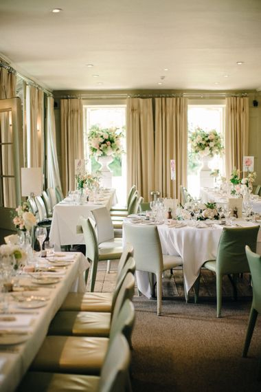 Elegant Wedding Reception | Outdoor Pastel Country Garden Wedding at Barnsley House in Cirencester | M and J Photography | Motion Farm Wedding Films