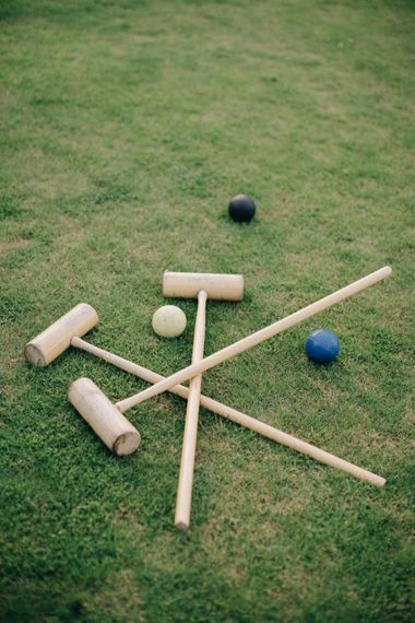 Croquet Garden Games | Outdoor Pastel Country Garden Wedding at Barnsley House in Cirencester | M and J Photography | Motion Farm Wedding Films