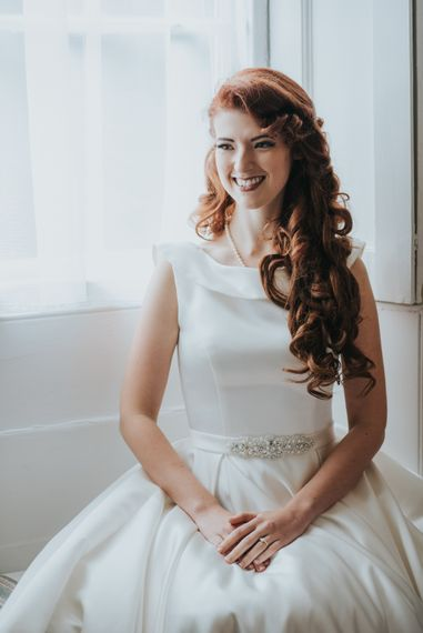 Bride in Lou Lou Bridal Wedding Dress