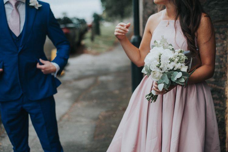 Bridesmaid in Blush Pink 'Adele' Chi Chi London Dress