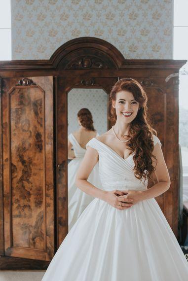 Bride in Ocean Bridal Studio Wedding Dress