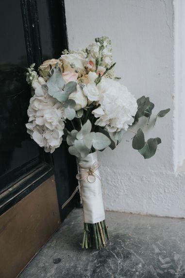 Pastel Wedding Bouquet with Eucalyptus