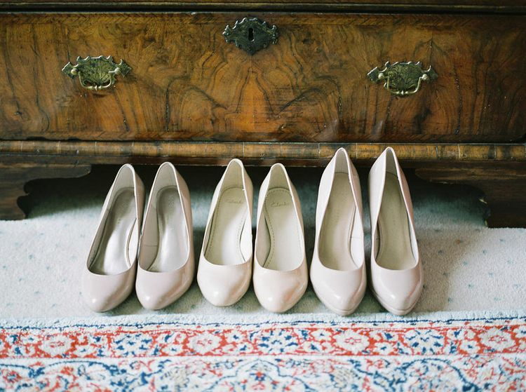 Bridal Party Shoes   A Romantic Pastel Wedding at Dauntsey Park in the Wiltshire English Countryside   Imogen Xiana Photography