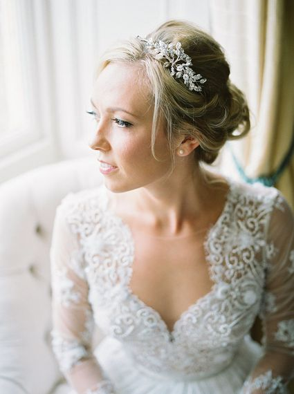 Bride in Suzanne Neville Camelia Gown   A Romantic Pastel Wedding at Dauntsey Park in the Wiltshire English Countryside   Imogen Xiana Photography