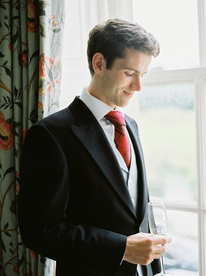 Groom in Traditional Morning Suit   A Romantic Pastel Wedding at Dauntsey Park in the Wiltshire English Countryside   Imogen Xiana Photography