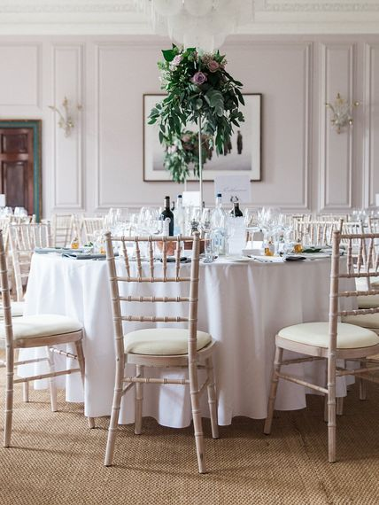 Elegant Wedding Reception   A Romantic Pastel Wedding at Dauntsey Park in the Wiltshire English Countryside   Imogen Xiana Photography