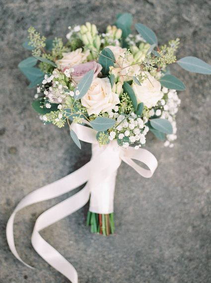Classic Rose Bridal Bouquet   A Romantic Pastel Wedding at Dauntsey Park in the Wiltshire English Countryside   Imogen Xiana Photography