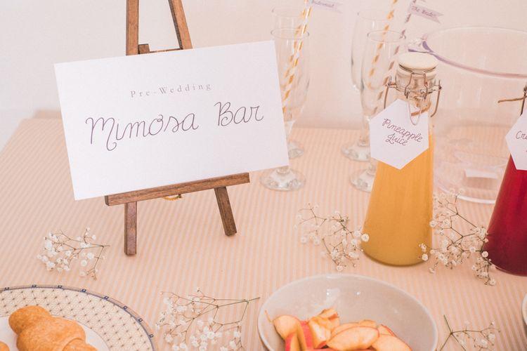 Mimosa Bar at Wedding