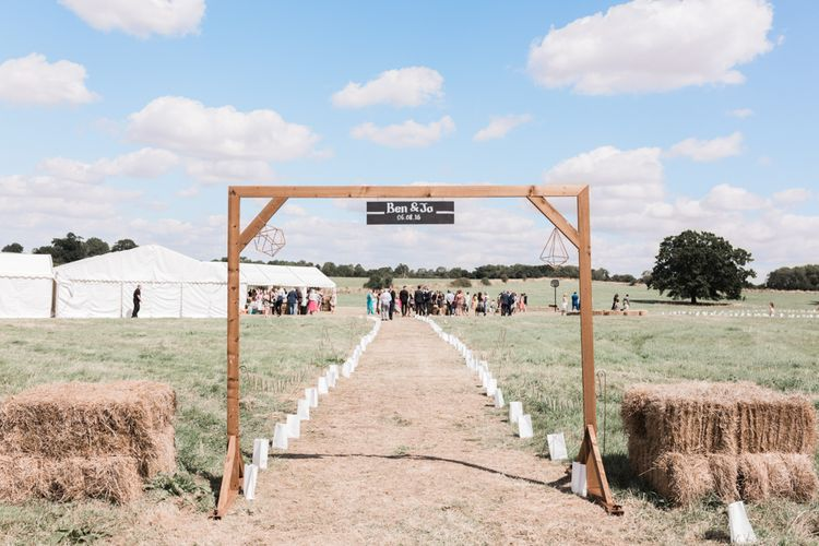 Outdoor Wedding with Marquee