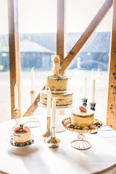 Cake Table Winter Wedding