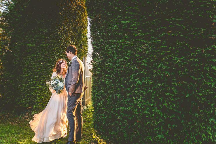 Bride & Groom Winter Light