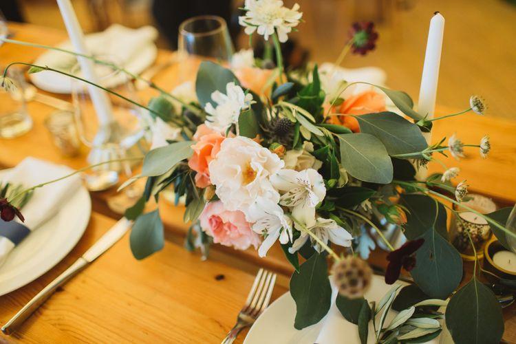 Peach & Cream Wedding Flowers
