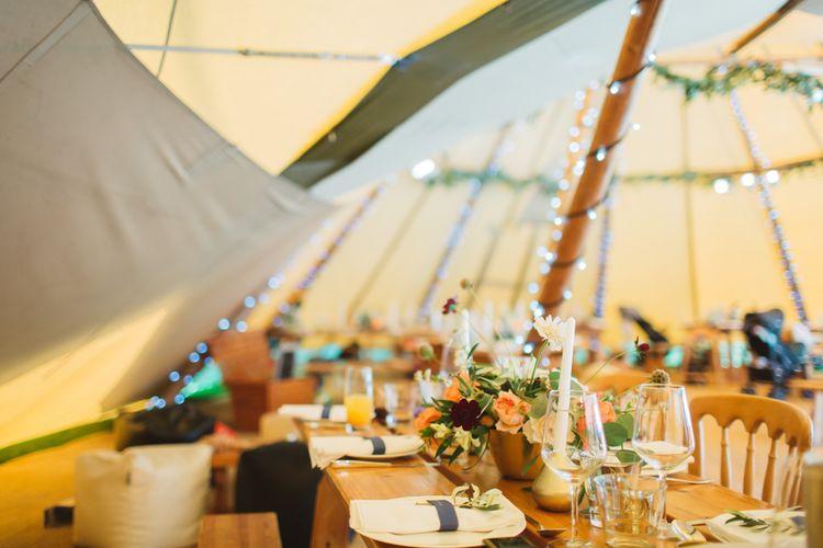 Rustic Tipi Wedding Reception