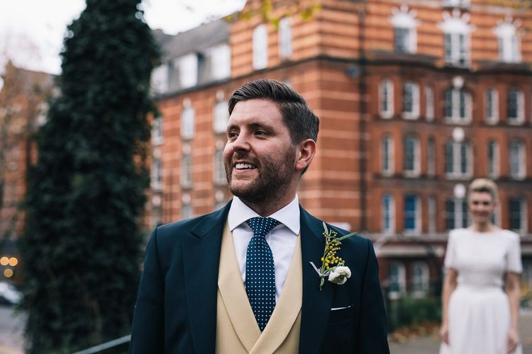 Groom In Jack Bunneys With Bespoke Waistcoat