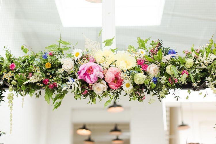 Wild Flower & Pink Peony Floral Arch to St JOHN Restaurant & Bar