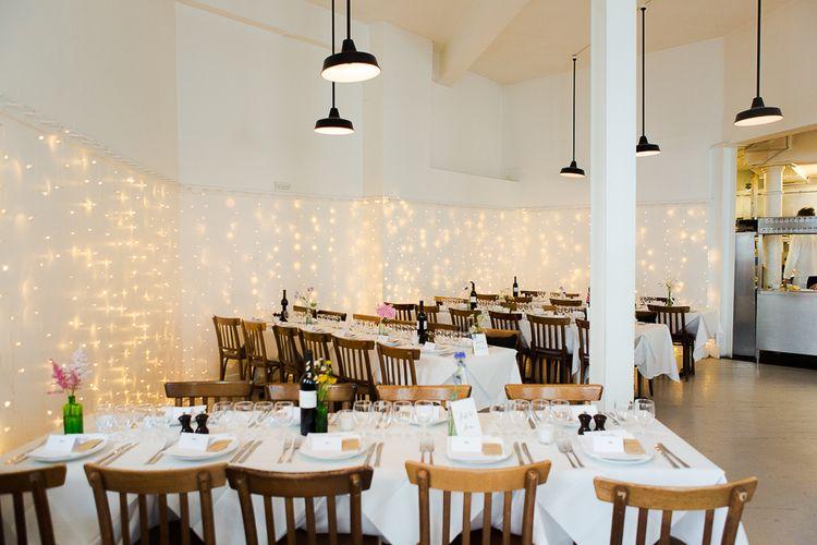 Fairy Light Backdrop at St JOHN Restaurant & Bar in Clerkenwell London