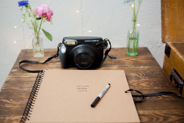 Polaroid Camera & Guest Book