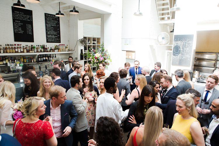 Wedding Guests at St JOHN Restaurant & Bar Clerkenwell Wedding Venue