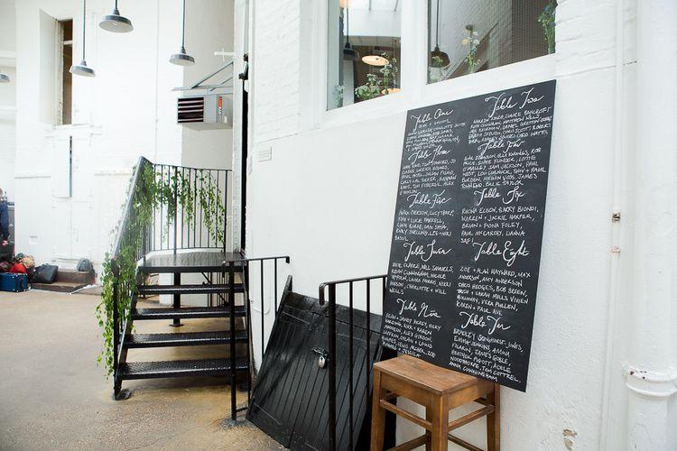 Chalkboard Seating Plan Wedding Decor