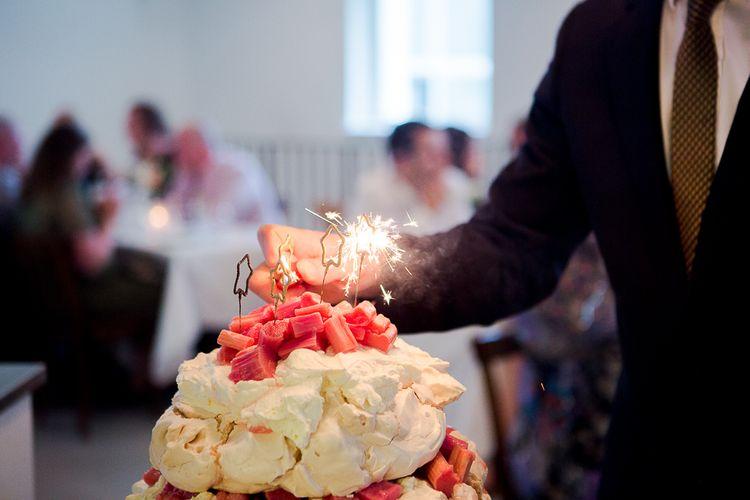Rhubarb Pavlova Wedding Cake