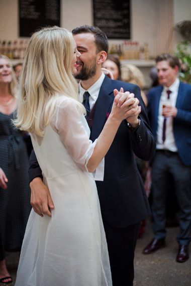 First Dance with Bride in Charlie Brear Wedding Dress & Groom in Paul Smith Suit