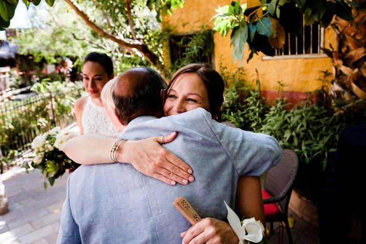 Hugs | Outdoor Ceremony at Boojum Tree in Phoenix, Arizona | Lee Meek Photography