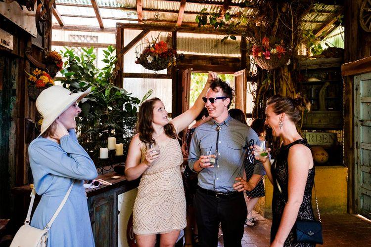 Wedding Guests | Outdoor Ceremony at Boojum Tree in Phoenix, Arizona | Lee Meek Photography