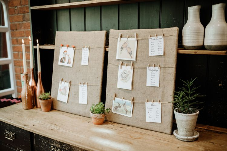 Table Plan | Farmhouse at Redcoats | Green Antlers Photography