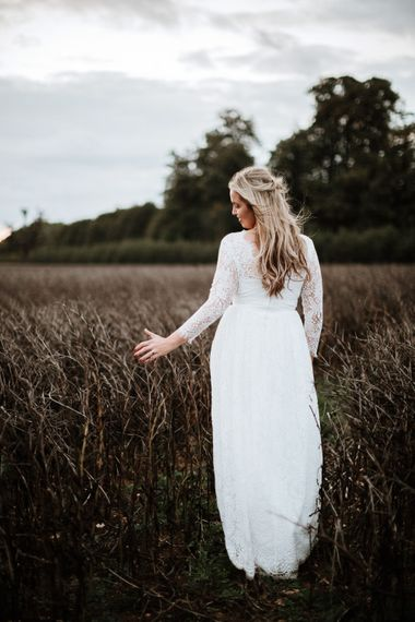 The Bride | Autumnal colours in Summer | Farmhouse at Redcoats | Green Antlers Photography