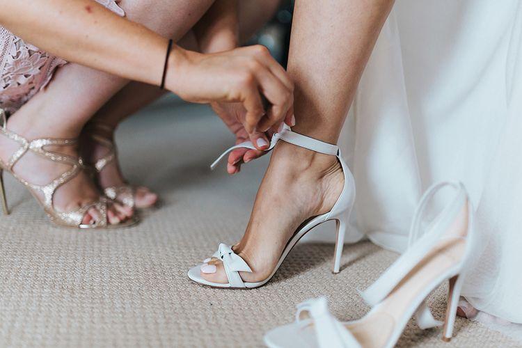 Alexandre Birman White Sandals For Bride