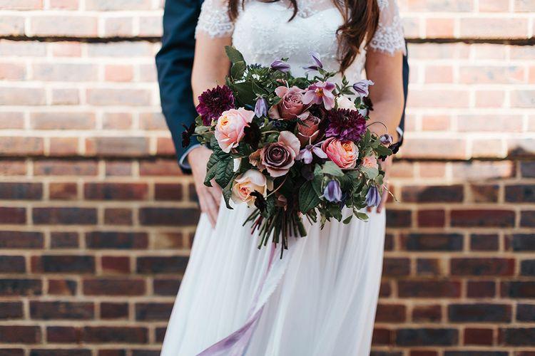 Brightly Coloured Wedding Bouquet