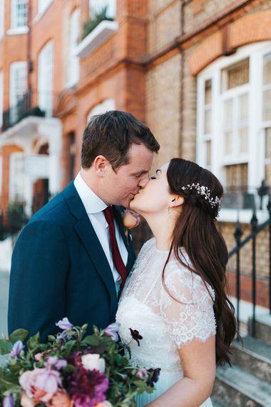 Bride & Groom Intimate London Wedding