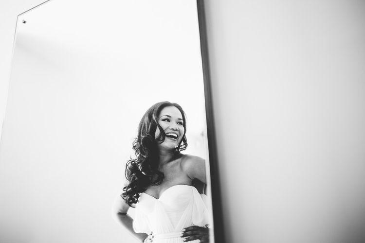 Bride in Tatyana Mereny Wedding Dress