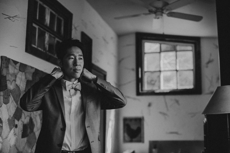 Groom Getting Ready For Wedding | Images By Matt Horan Photography