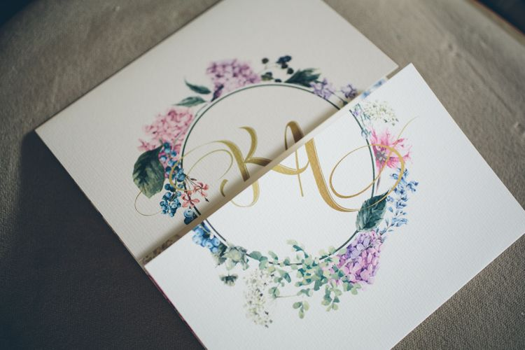 Floral Wreathe Stationery Suite