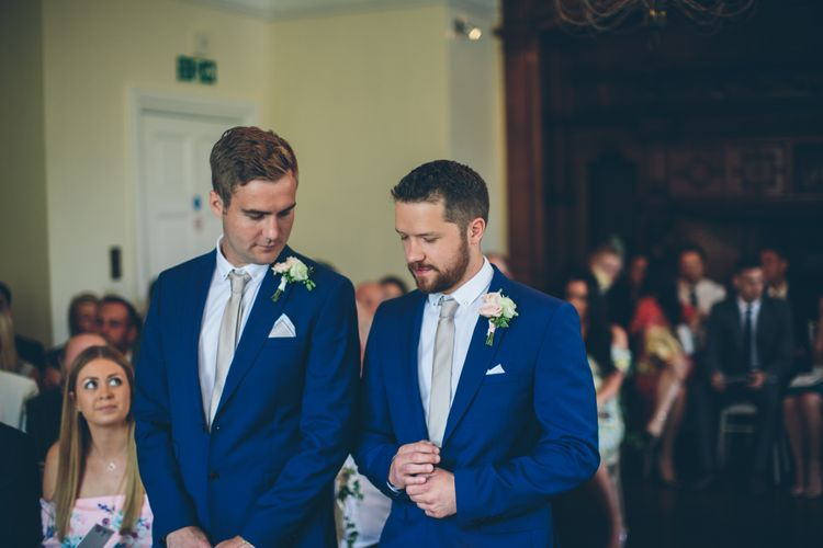 Vintage Inspired Wedding At Yeldersley Hall With Bride In Ronald Joyce And Styling By The Vintage House That Could Images By Roar Photography