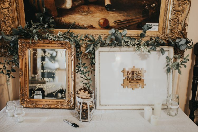 Mirror Wedding Sign | Jigsaw Guest Book