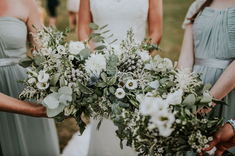 White & Greenery Bouquets