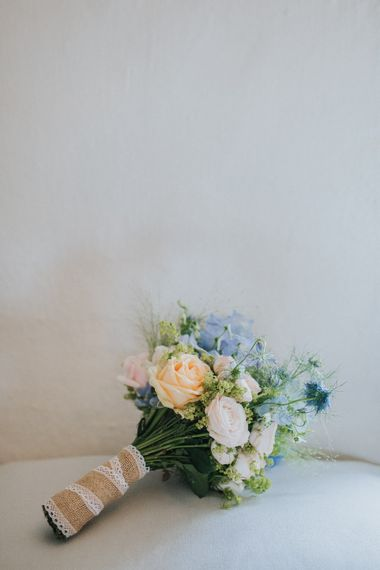 A Cotswold rustic wedding with mismatched bridesmaid dresses