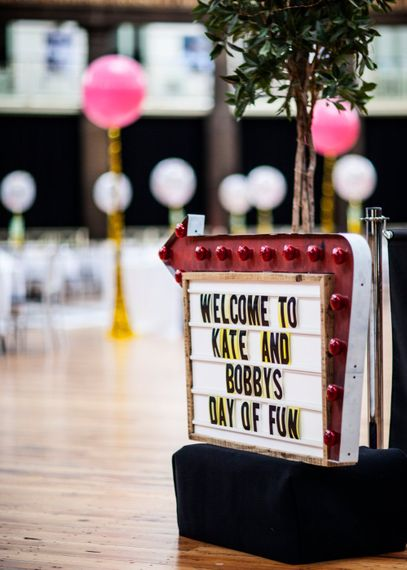 Cinema Lightbox Sign For Wedding Day