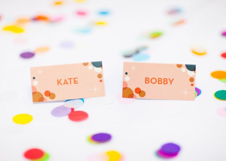 Brightly Coloured Wedding Stationery Suite by Telegramme Paper Co