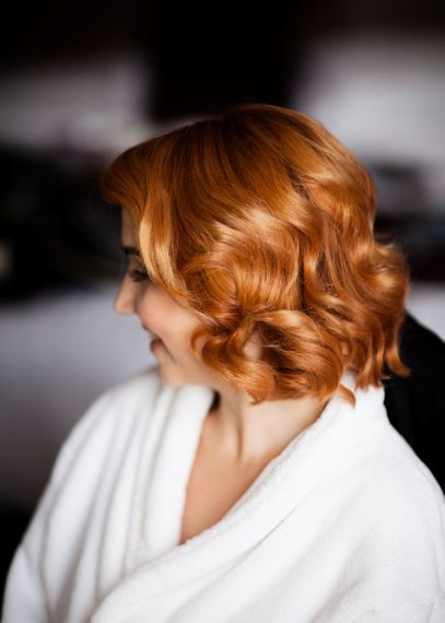 Short Hair With A Soft Curl For Wedding