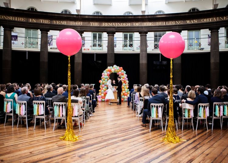 Balloon Aisle Wedding Decor