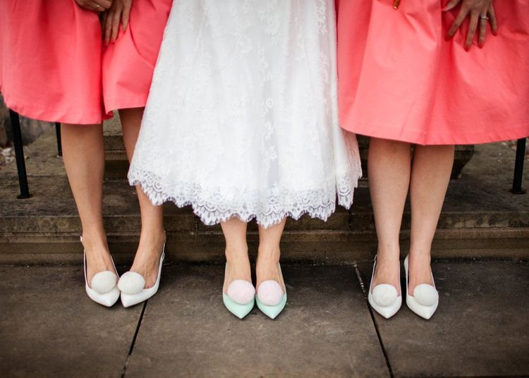Bridesmaids In Pink Lindy Bop Dresses