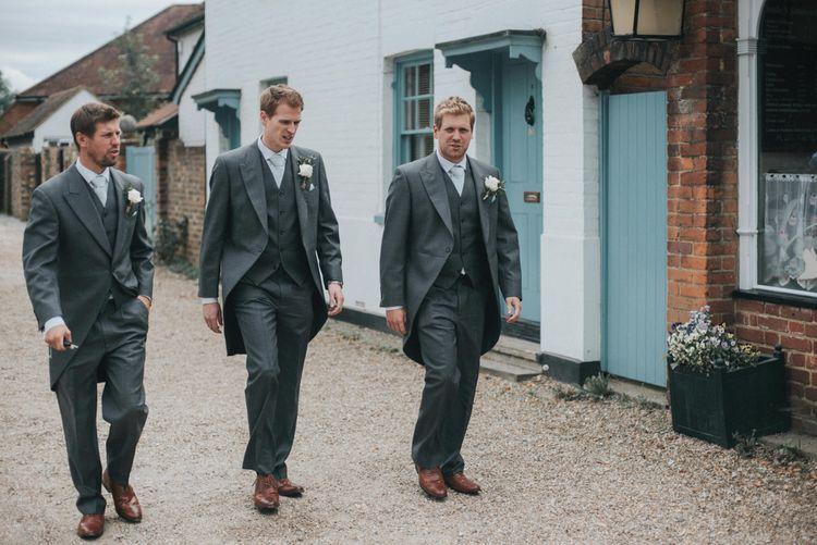 Groomsmen in Grey Morning Suits