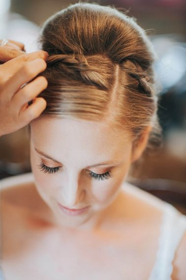 Chic Bridal Up do with Braid
