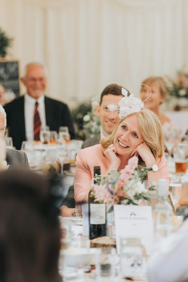 Wedding Guests During Marquee Reception