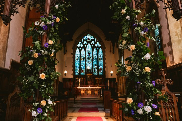Floral Arch In The Church