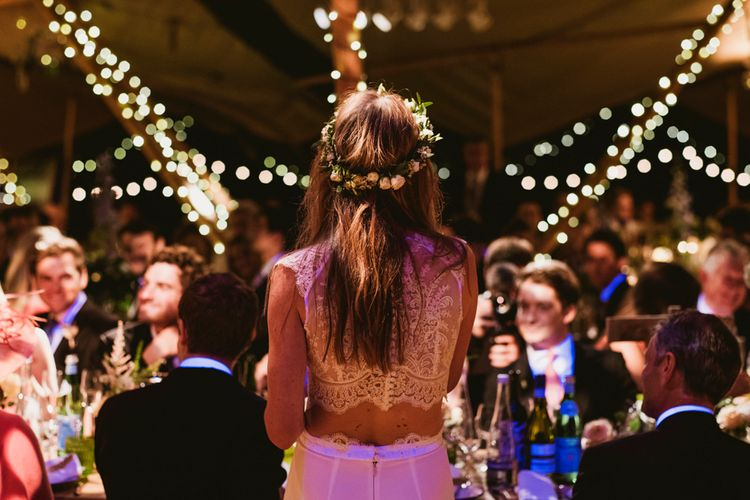 Rustic Tipi Wedding Filled With Fairy Lights