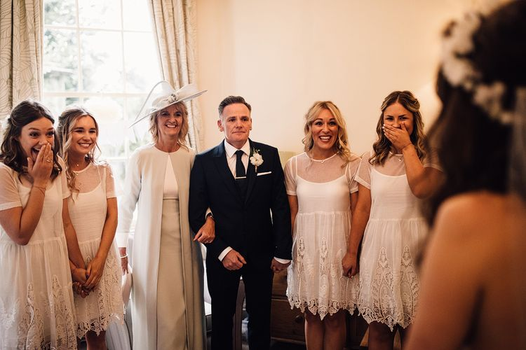 Bridesmaids In White Dresses From ASOS